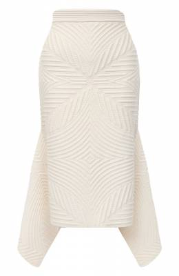 Шерстяная юбка Alexander McQueen 641897/Q1AR0
