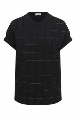 Хлопковая футболка Brunello Cucinelli M0T18BE100