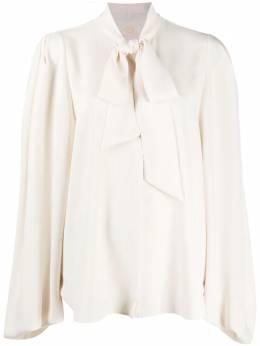 Sara Battaglia bow-detail long-sleeve blouse SBPF20702