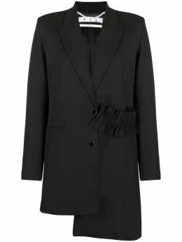 Off-White пиджак строгого кроя с принтом Hands OWEF057F20FAB0021001