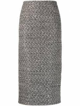 Alessandra Rich твидовая юбка миди FAB1817F2953