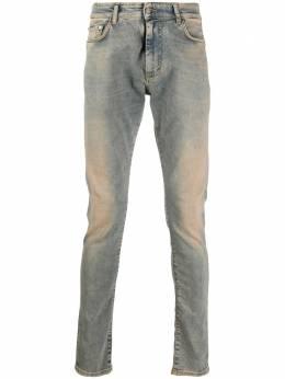 Represent джинсы скинни с эффектом потертости M07043022