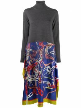 Maison Margiela платье-джемпер с контрастной юбкой S29CT0996S17583