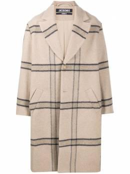 Jacquemus клетчатое пальто оверсайз 206CO03206119172