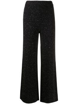 Joseph расклешенные меланжевые брюки JF004847