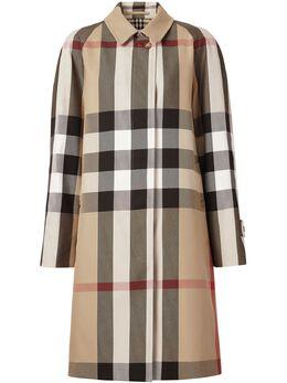 Burberry твиловое пальто в клетку 8035885