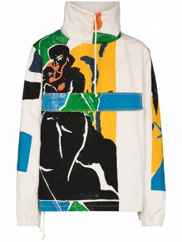 Bethany Williams graphic-print lightweight jacket bwaw20011