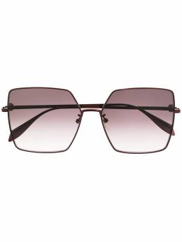 Alexander McQueen Eyewear солнцезащитные очки Light Skull в квадратной оправе AM0273S004