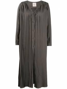 L'Autre Chose плиссированное платье миди O1511004021