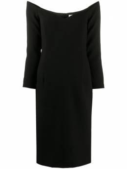 L'Autre Chose трикотажное платье миди с длинными рукавами B1510993047