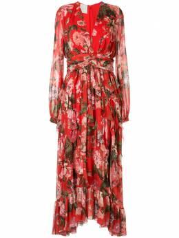 Ingie Paris расклешенное платье с цветочным принтом 3134RD00CHIIMP2R