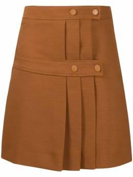 See By Chloe юбка со складками и вставками CHS20WJU02026