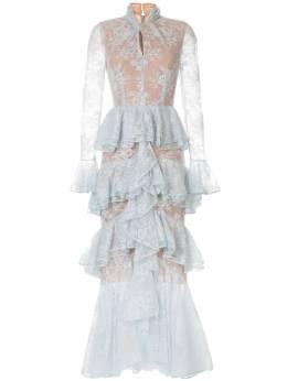 Ingie Paris длинное платье с оборками 3102RD01DENTEL3
