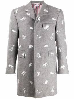 Thom Browne пальто с принтом MOC005A06884