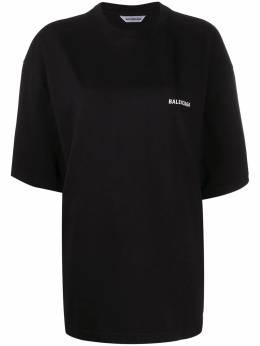 Balenciaga футболка оверсайз с надписью 641532TJVL4