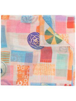 Chanel Pre-Owned шарф с геометричным принтом и логотипом CC DP0920CHASCA5
