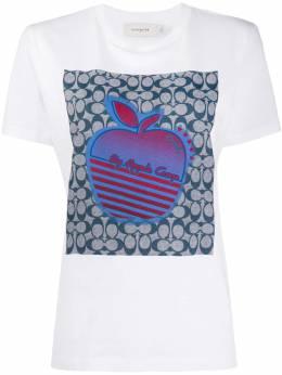 Coach футболка с принтом и логотипом 4231