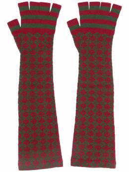 Chanel Pre-Owned длинные перчатки-митенки DPVC0920CHGLOV3