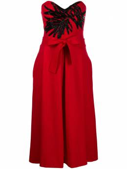 P.a.r.o.s.h. bead-embellished strapless dress D724035Z009