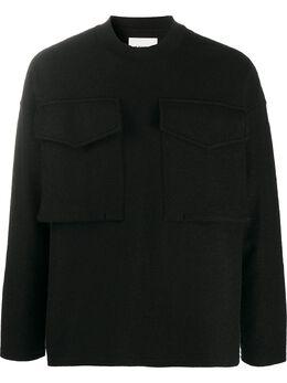 Jil Sander джемпер с накладными карманами JSMR707002MR217808