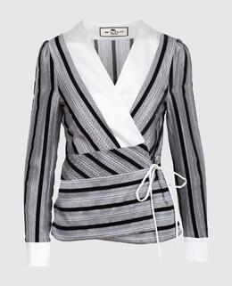 Серая блуза из шелка Etro 2300004014231