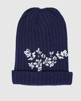 Детская синяя шапка Ermanno Scervino 2300004331826