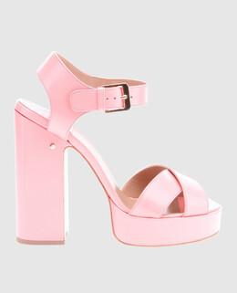 Розовые кожаные босоножки Rosange Laurence Dacade 2300004680665