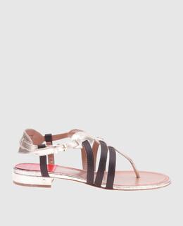 Золотистые кожаные сандалии Renin Laurence Dacade 2300004753307
