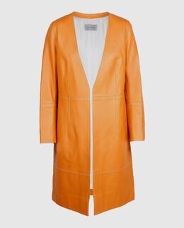 Оранжевый плащ из кожи ягненка Yves Salomon 2300003922704