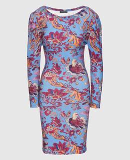 Синее платье из шерсти Etro 2300004438792