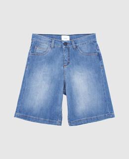 Детские голубые джинсовые шорты Fendi 2300004592425