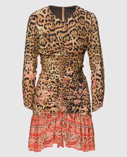 Бежевое платье из шелка Etro 2300004438785