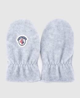 Детские серые рукавицы Moncler Enfant 2300004501427