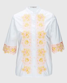 Белая блуза с вышивкой Etro 2300003488552