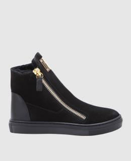 Черные замшевые ботинки Giuseppe Zanotti Design 2300004444533