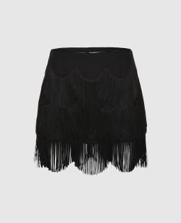 Черная юбка с бахромой Marc Jacobs 2300004655953