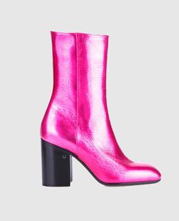 Розовые кожаные ботильоны Laurence Dacade 2300005036775