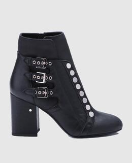 Черные кожаные ботильоны Selena Laurence Dacade 2300004975952