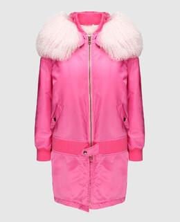 Розовая парка с подкладкой из меха тибетского ягненка Mr & Mrs Italy 2300005039134