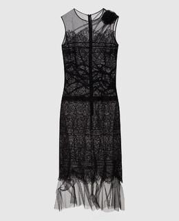 Черное платье из кружева Ermanno Scervino 2300005262204