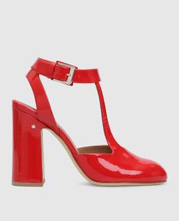 Красные кожаные босоножки Laurence Dacade 2300005334741