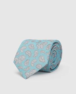 Голубой галстук из шелка Isaia 2300005153908