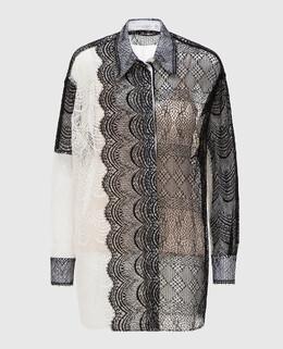 Светло-бежевая блуза с кружевом Victoria Beckham 2300005332655