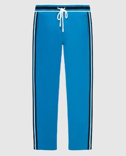 Синие спортивные брюки Stefano Ricci 2300005169626
