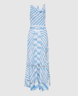 Голубое платье из шелка Altuzarra 2300005268282