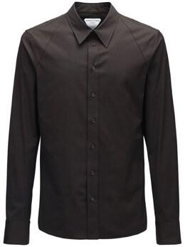 Рубашка Из Стрейч Хлопка Поплин Bottega Veneta 72IS3U017-MjExMw2