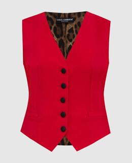 Красный жилет Dolce&Gabbana 2300005535537