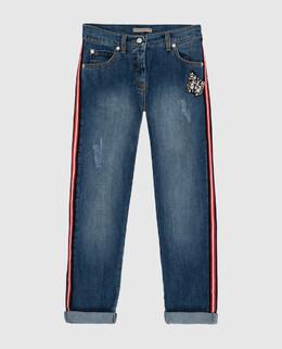 Детские синие джинсы Ermanno Scervino 2300005505172