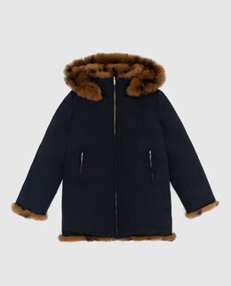 Детская двухсторонняя куртка с мехом кролика Yves Salomon Enfant 2300005645953