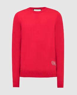 Красный джемпер из шерсти Gucci 2300005666712